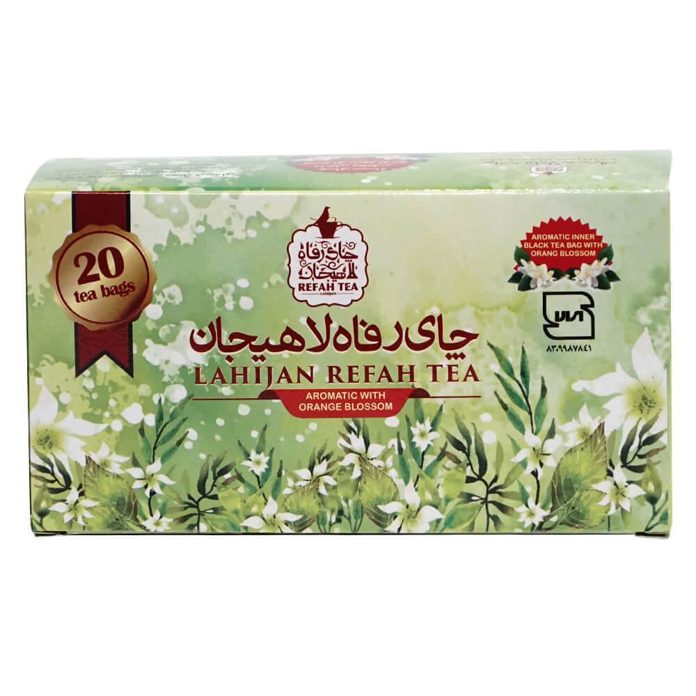 چای تی بگ سیاه با بهارنارنج طبیعی