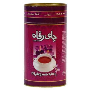 چای سیاه شکسته ممتاز با زعفران طبیعی