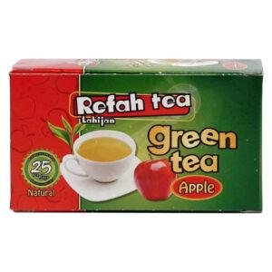 چای تی بگ سبز با سیب طبیعی