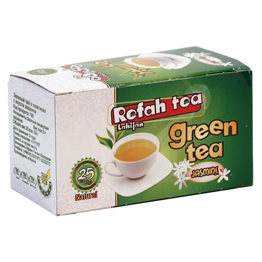 چای تی بگ سبز با جاسمین طبیعی