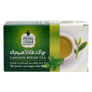 چای تی بگ سبز با نعناع طبیعی