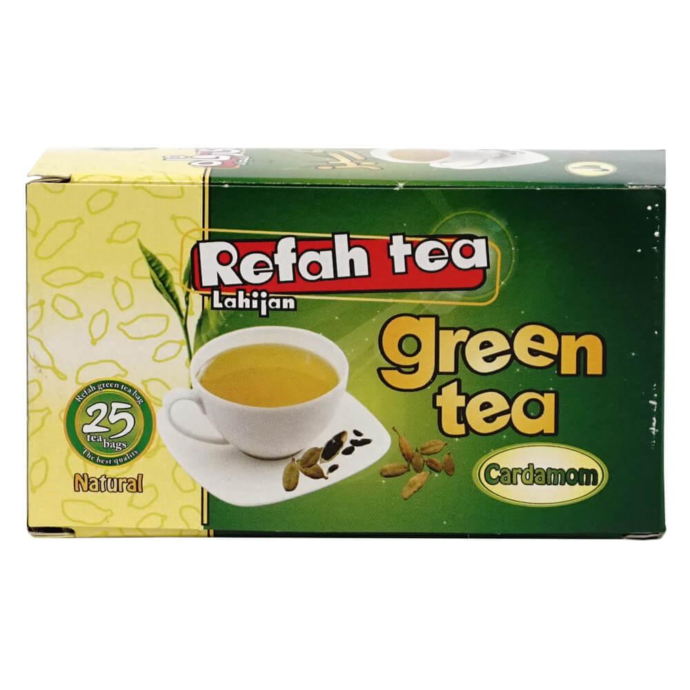چای تی بگ سبز با هل طبیعی