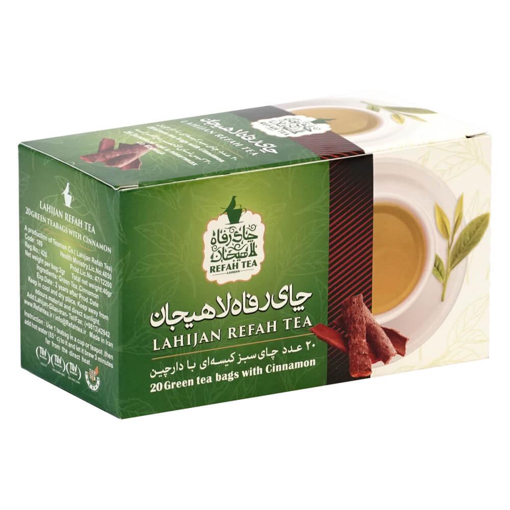چای تی بگ سبز با دارچین طبیعی