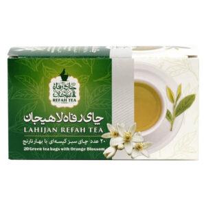 چای تی بگ سبز با بهارنارنج طبیعی