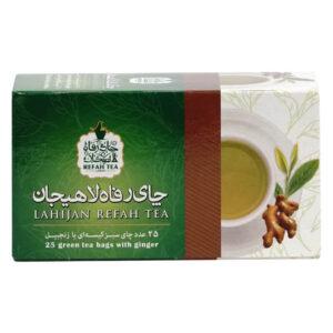چای تی بگ سبز با زنجبیل طبیعی