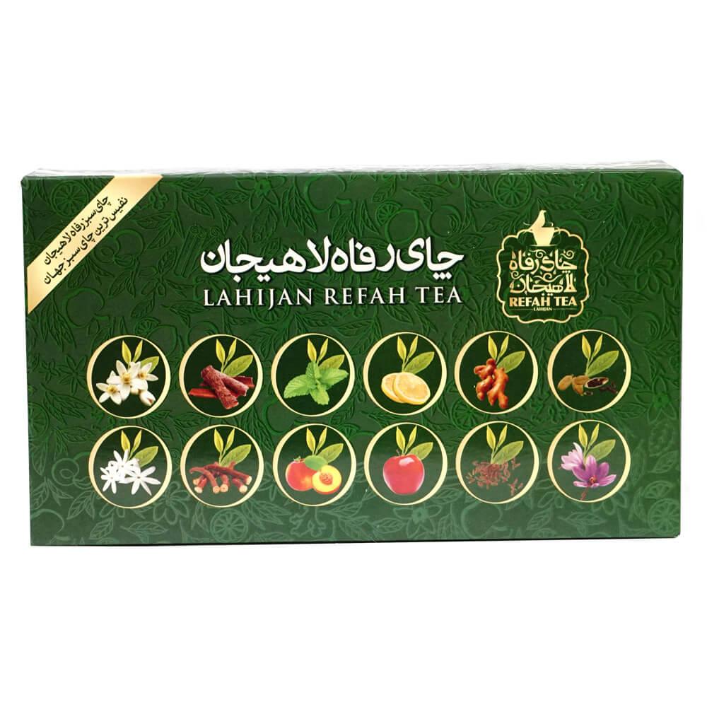 چای سبز کیسه ای 12 طعم
