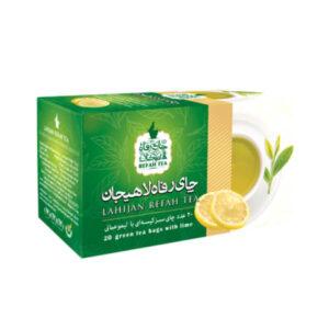 چای تی بگ سبز با طعم لیمو طبیعی
