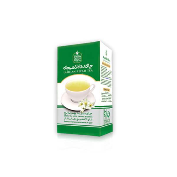 چای سبز با بهارنارنج طبیعی