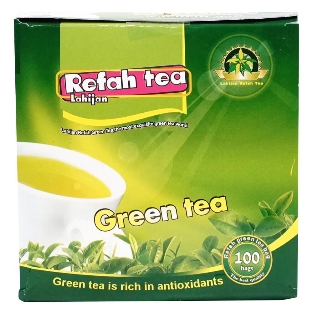 چای سبزکیسه ای طبیعی 100 عددی 200 گرمی