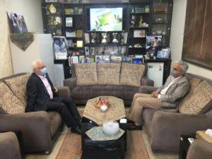 دیدار دکتر جهانساز و حاج یوسف ابراهیمی